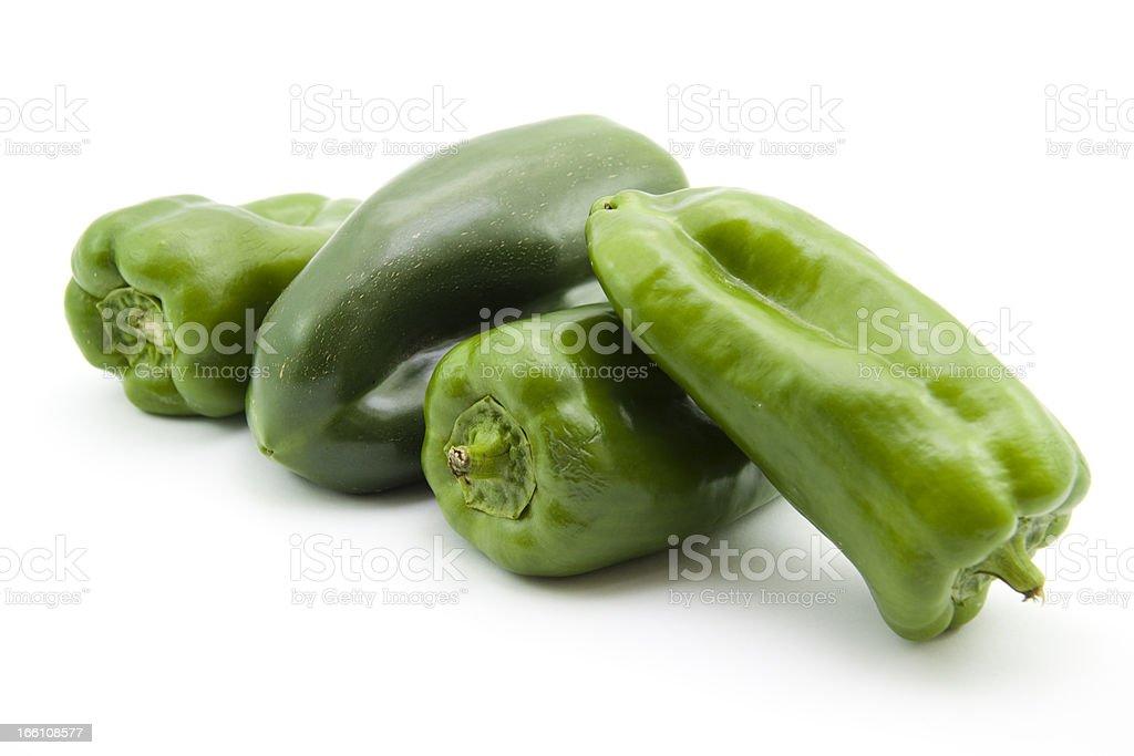 Green paprika royalty-free stock photo