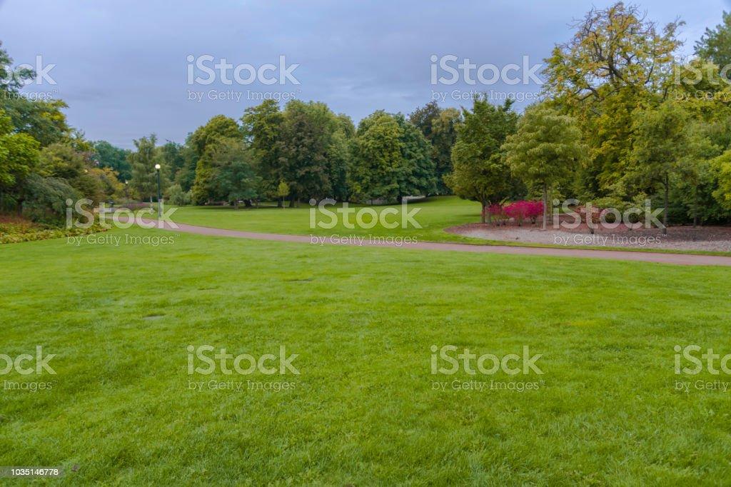 Green park in Gothenburg stock photo