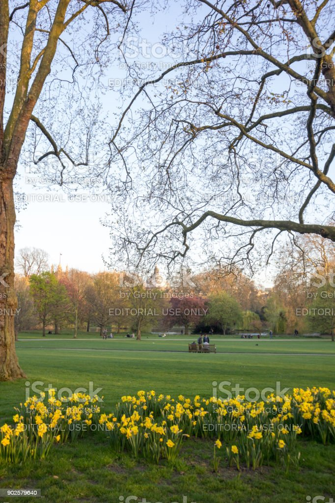 Green Park in Westminster, London stock photo