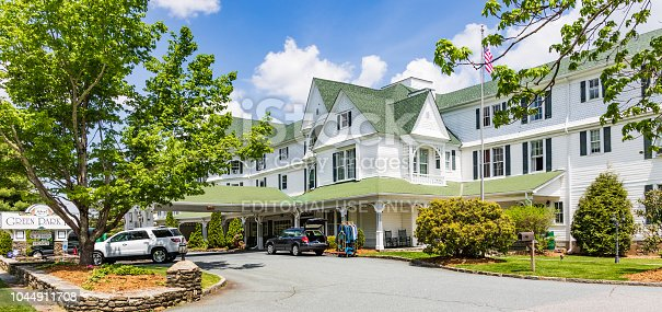 Blowing Rock, NC, USA-5/11/18: The Green Park Inn, a late 19th century structure, is the state's 2nd oldest operating resort hotel.