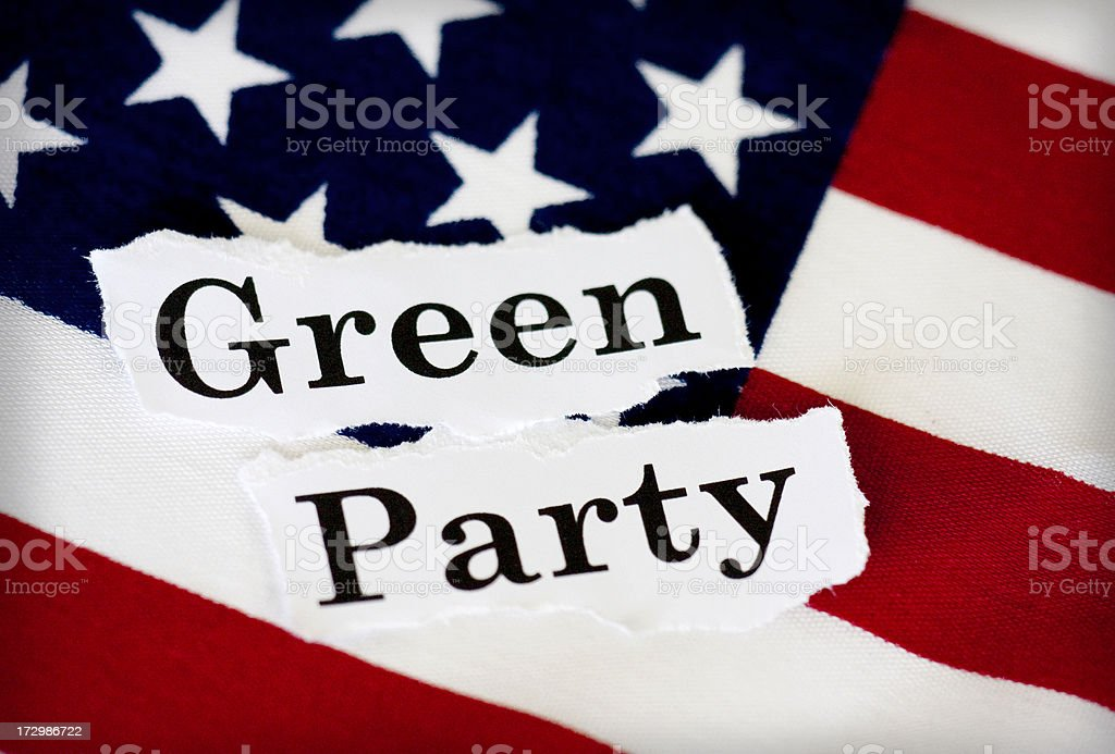 green party stock photo