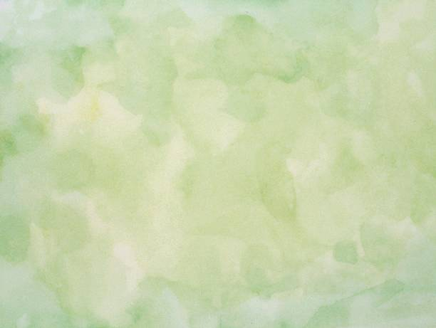 Green pastel watercolor background stock photo