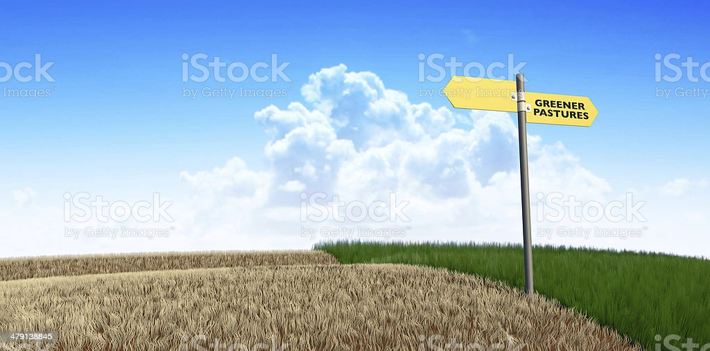 Green Pastures Sign stock photo