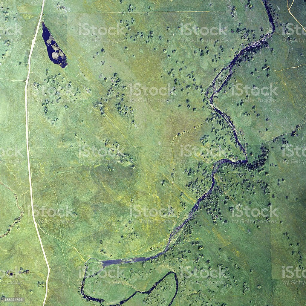 Green Pastures With River royalty-free stock photo