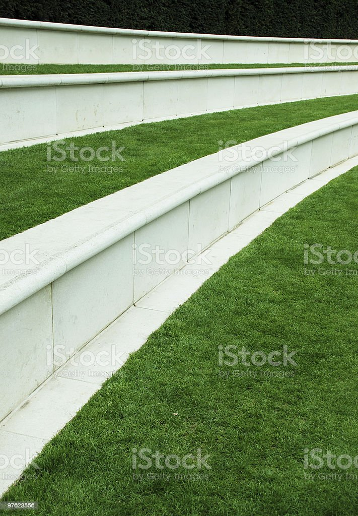 Green Path royaltyfri bildbanksbilder