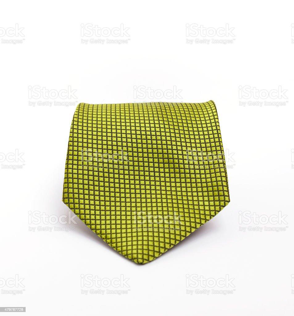 Green pattern necktie stock photo