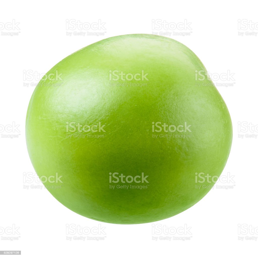 Green pea isolated on white. Witrh clipping path. stock photo