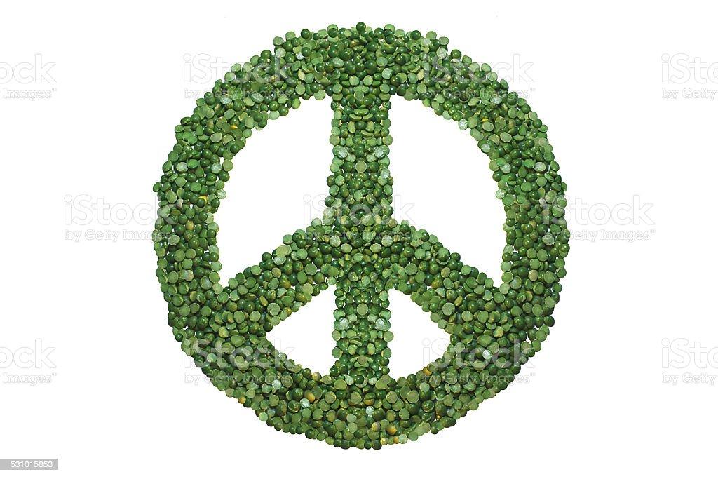 Green peace symbol. stock photo