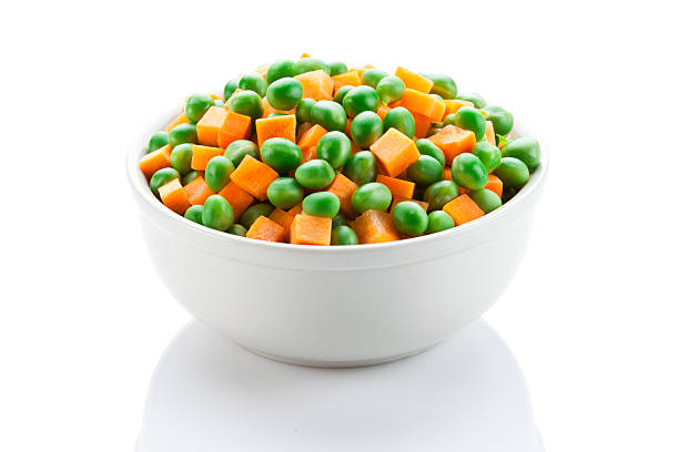 Green Peas and Carrot stock photo