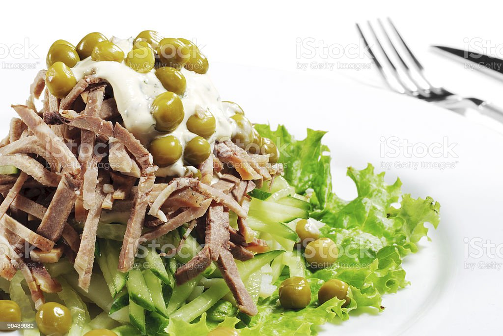 Green Peas and Meat Salad royalty-free stock photo