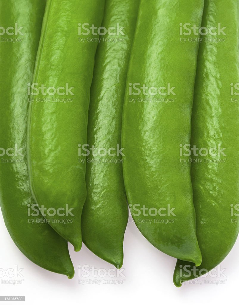 Green peas closed stock photo