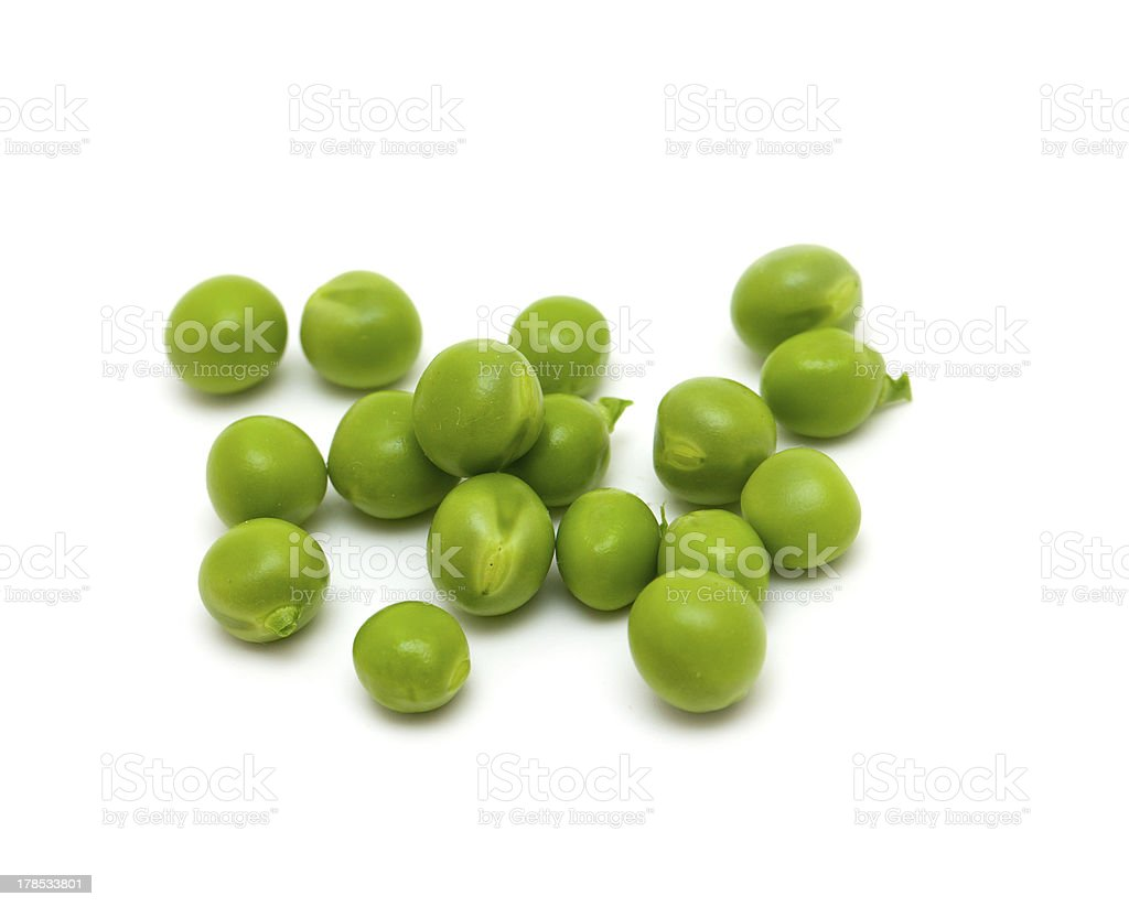 green peas over white stock photo