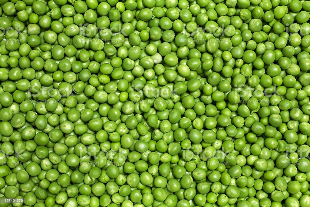 Green peas stock photo