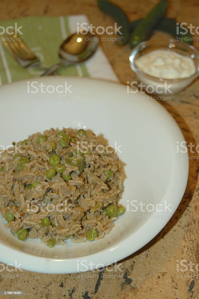Green Peas Pilaf royalty-free stock photo