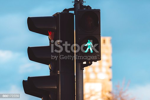 Walk Signal, Green Light, Walk Don't Walk Signal, Stoplight, Road Signal