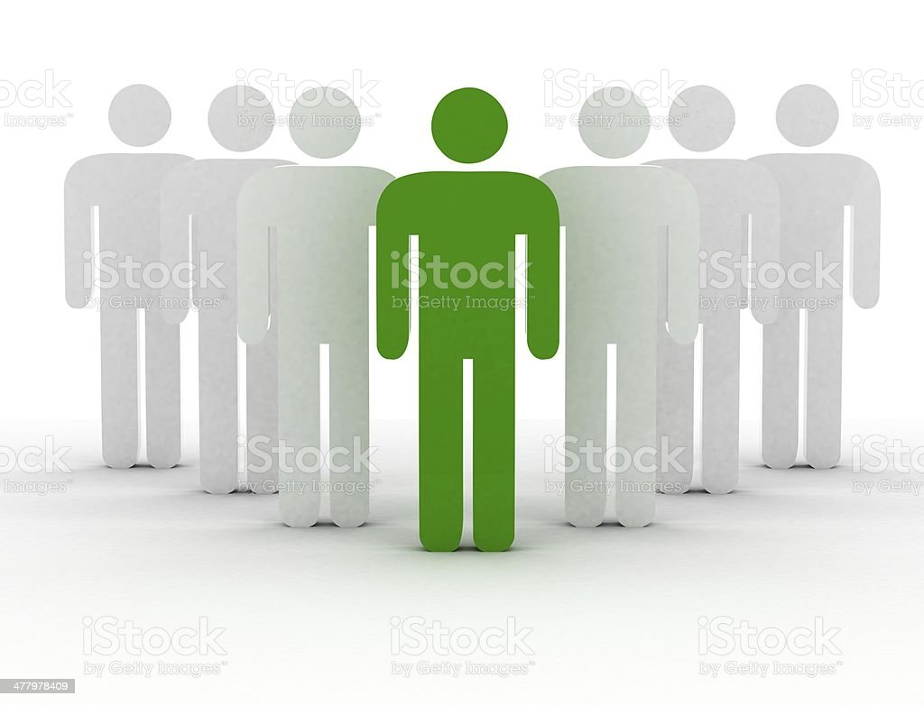 Green People royalty-free stock photo