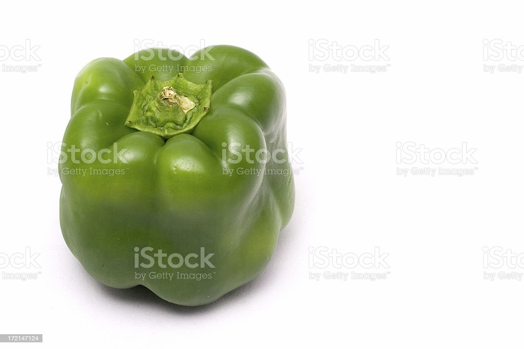 Green Pepper on White royalty-free stock photo