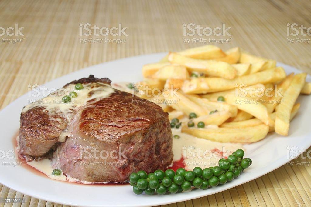 Green Pepper Steak royalty-free stock photo