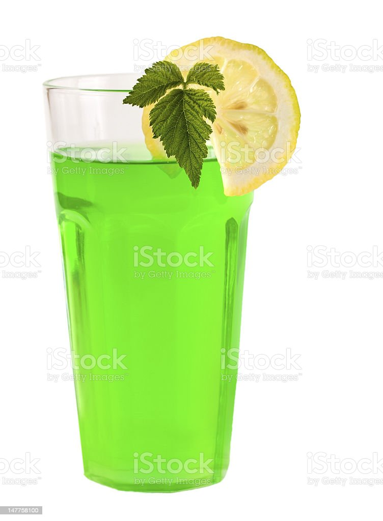 green peppermint cocktail royalty-free stock photo