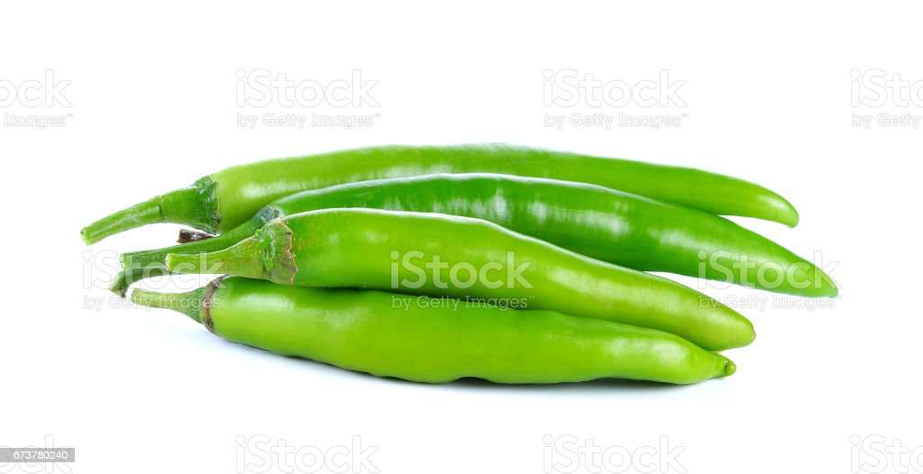 Yeşil biber beyaz izole royalty-free stock photo