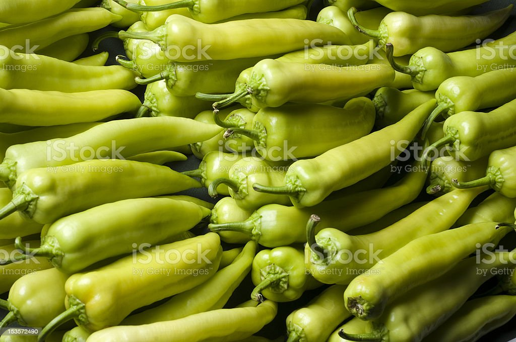 green peppers stock photo