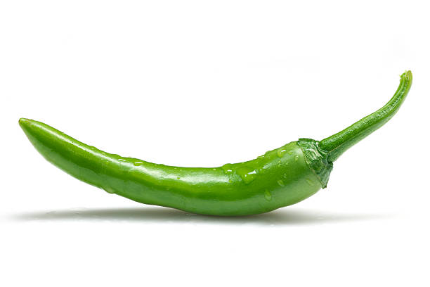 green peppers - green chilli pepper stock photos and pictures