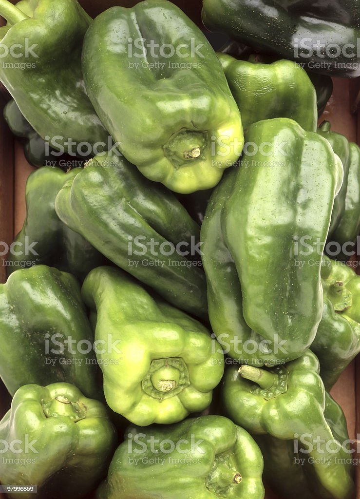 Green peppers royalty free stockfoto