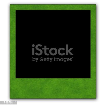 144325206 istock photo Green photo frame isolated on white background 178878411