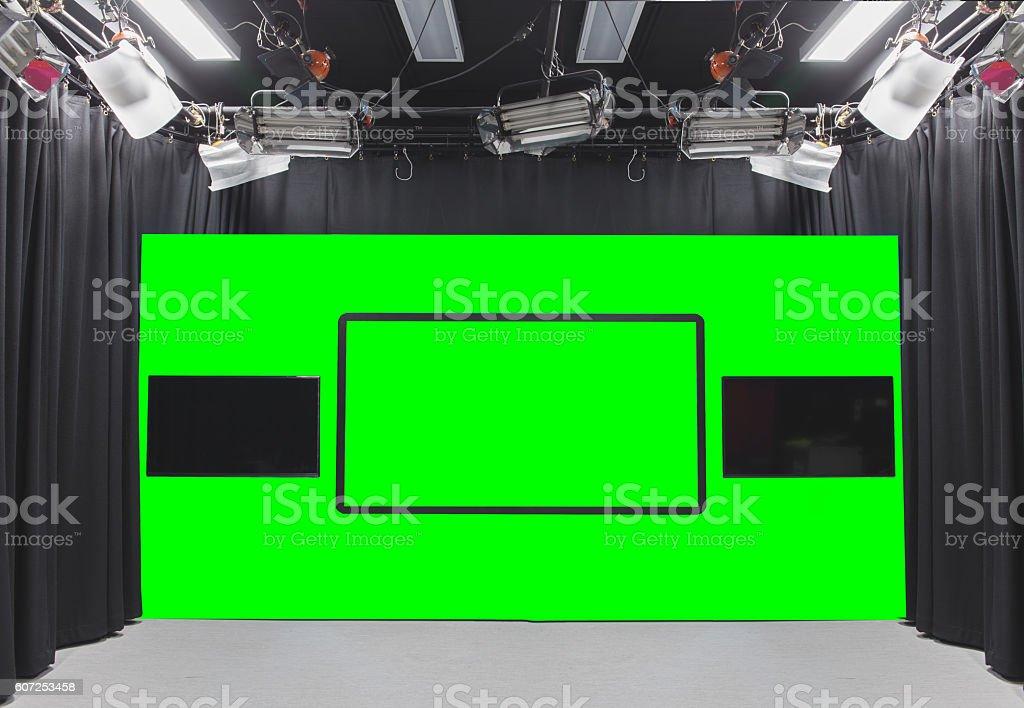 green photo studio stock photo