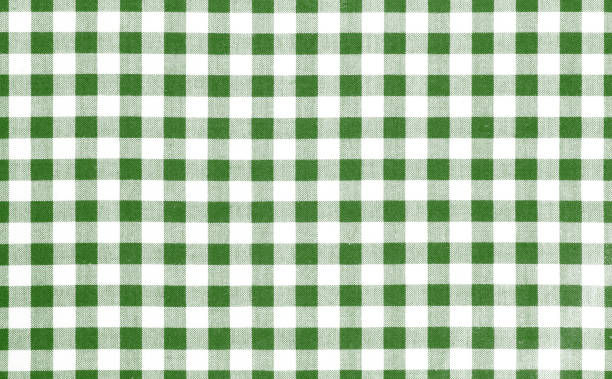 Green picnic cloth background. Green picnic cloth pattern wallpaper background.Kitchen menu backdrop.Retro fabric surface transparent. plaid stock pictures, royalty-free photos & images