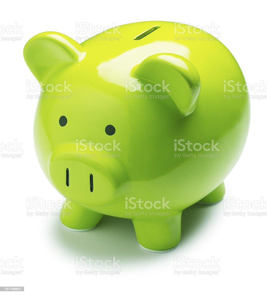 Green Piggy Bank royalty-free stock photo