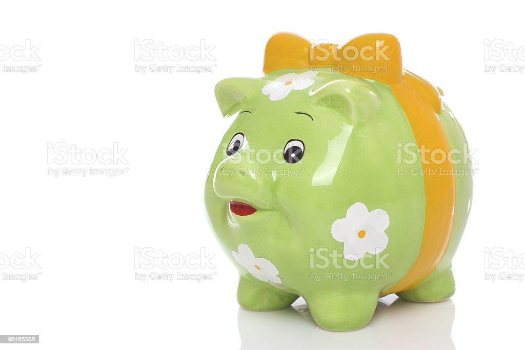 Verde Salvadanaio a porcellino. foto stock royalty-free