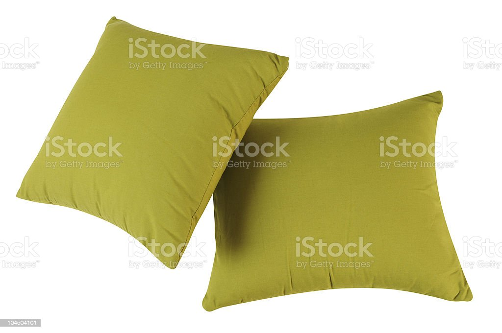 Green pillows. royalty-free stock photo