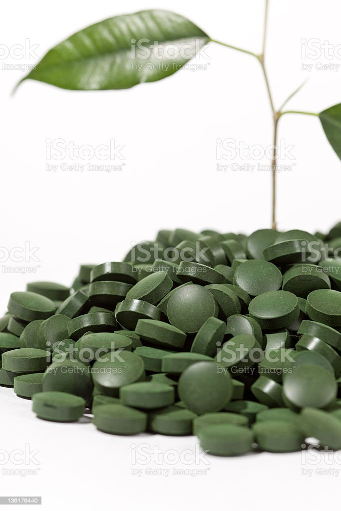 green pills royalty-free stock photo
