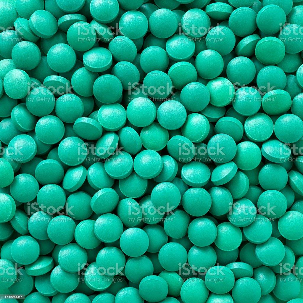 Green pills stock photo