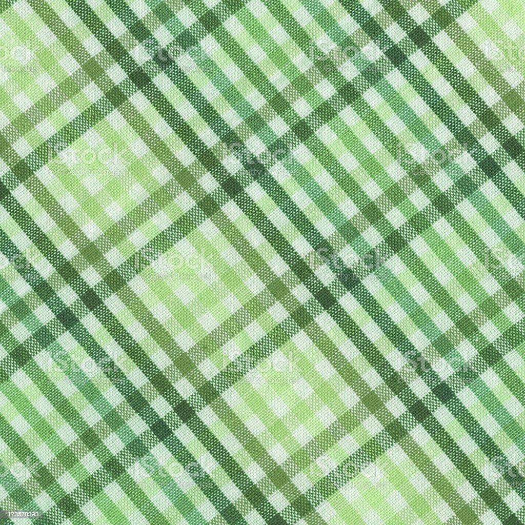 green plaid cotton napkin stock photo