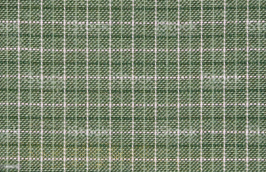 Green Plaid Fabric royalty-free stock photo