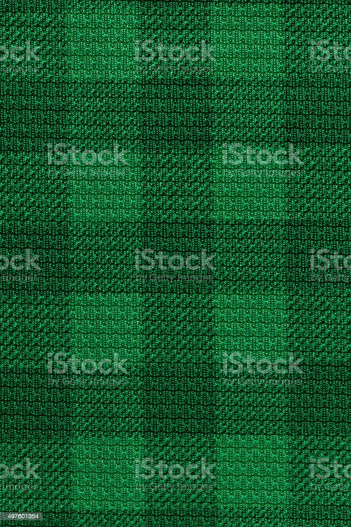 Green plaid fabric texture background stock photo