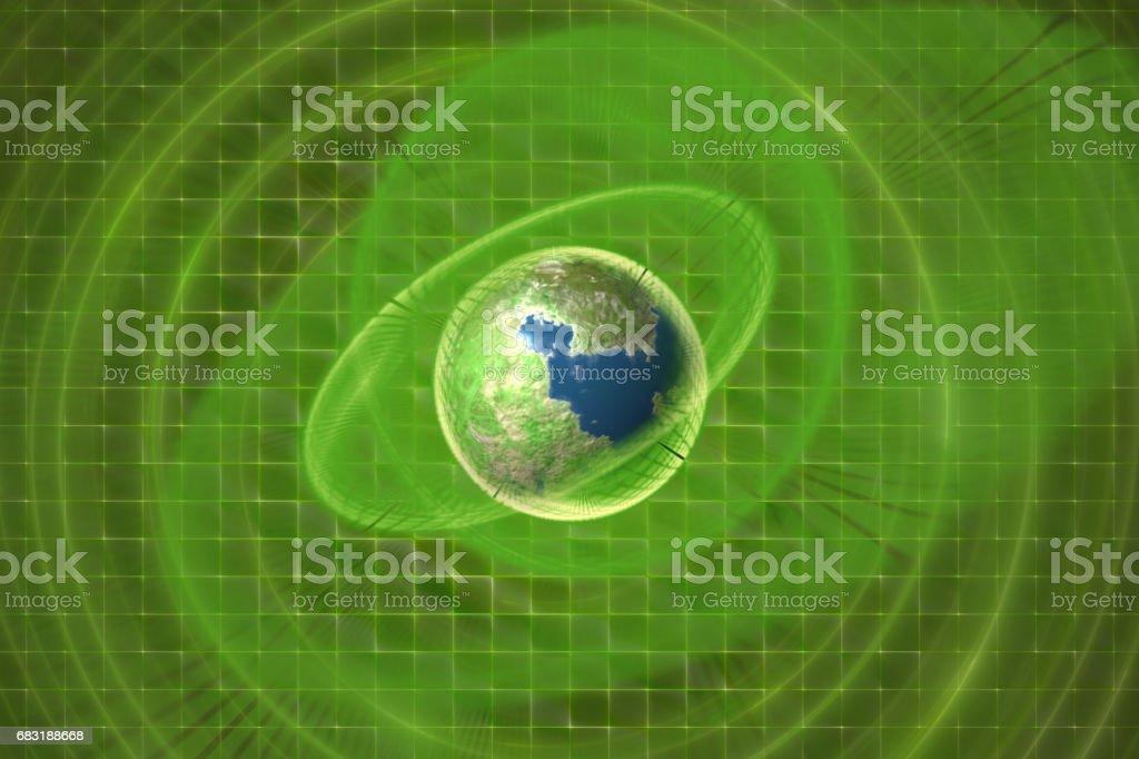 녹색 행성 컨셉 디자인 royalty-free 스톡 사진