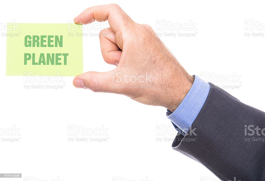 green planet greeting card royalty-free stock photo