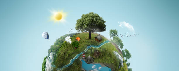 green planet - ecosystem stock photos and pictures
