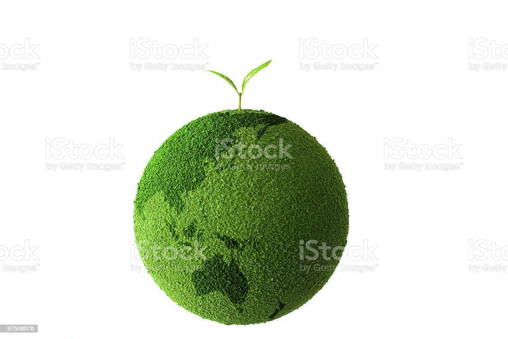 Planète verte avec plant photo libre de droits