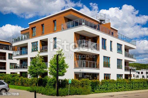 889473004 istock photo Green plants around the new modern apartment building, Gdynia, Poland 947377018