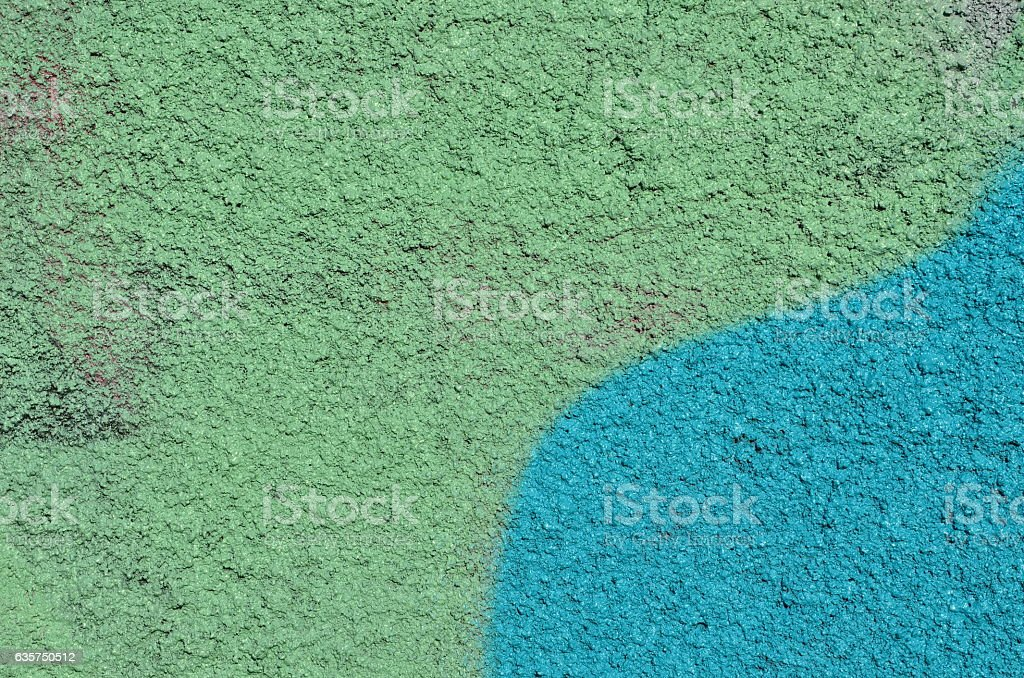 Green plastered wall stock photo
