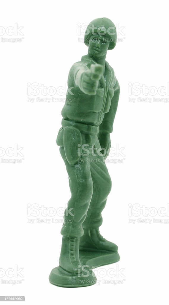 Green Plastic Army Man royalty-free stock photo
