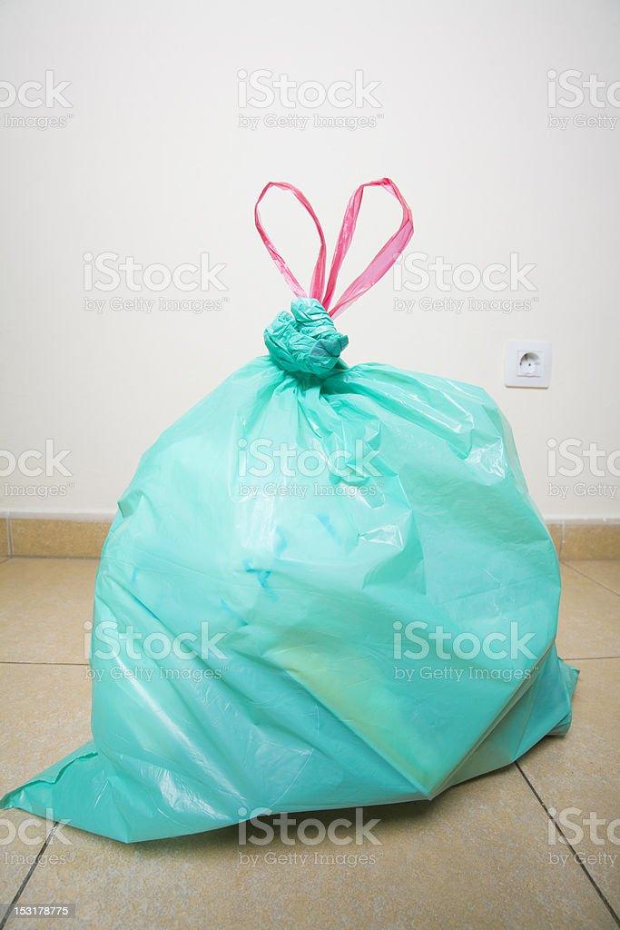 Green Plastic Bag royalty-free stock photo