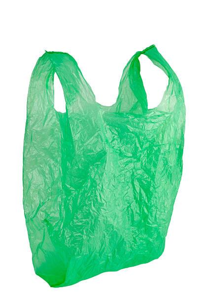 sac en plastique vert - sac en plastique photos et images de collection