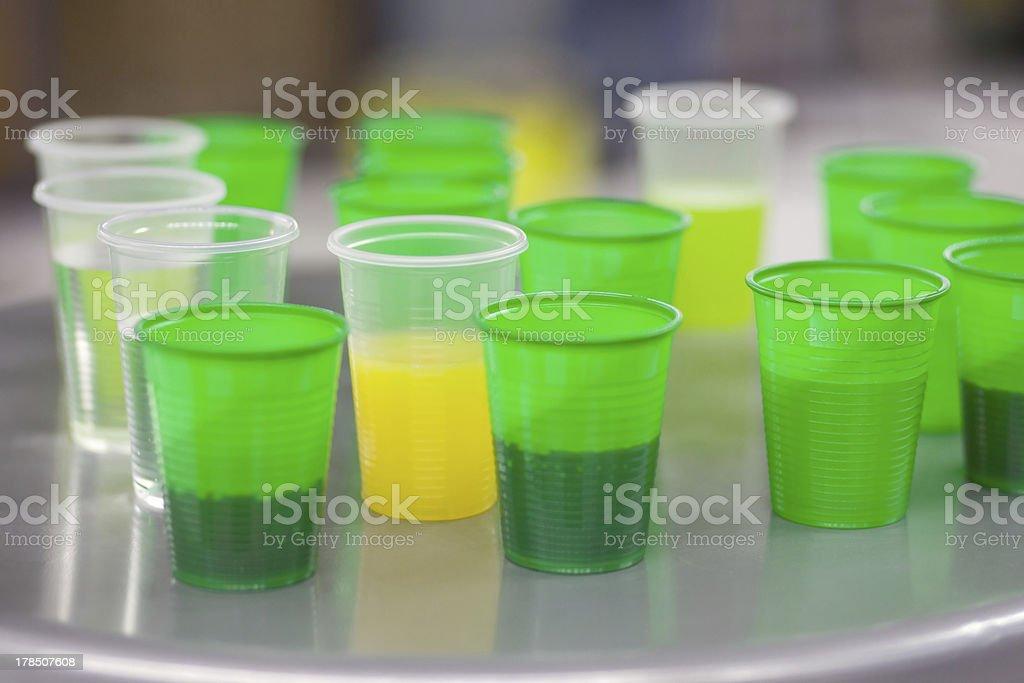 green plastic glasses royalty-free stock photo
