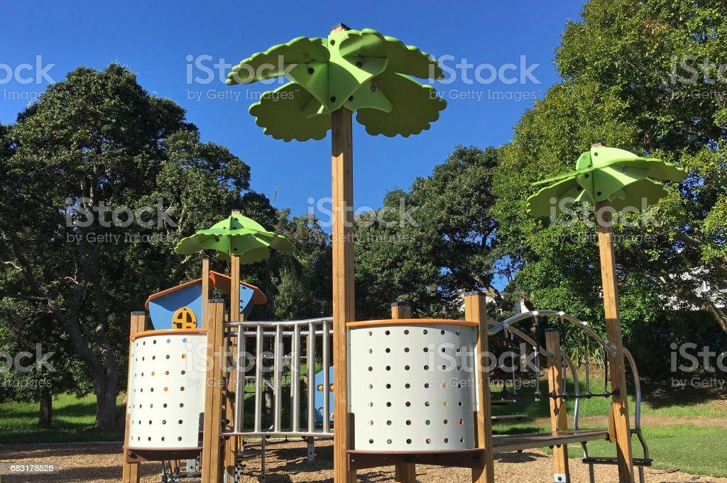 Green playground 免版稅 stock photo