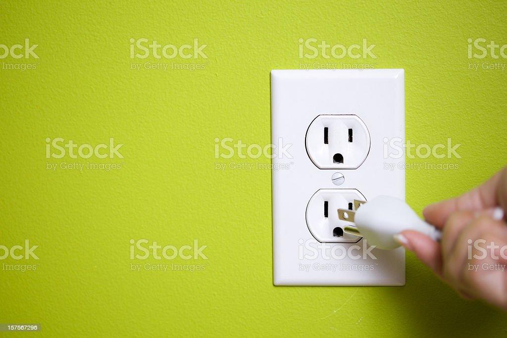 Green plug royalty-free stock photo